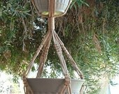 Macrame Plant Hanger 2-TIER 6mm  50in Sand (Choose Color)