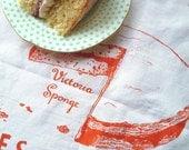 Cakes Of Britain Tea Towel