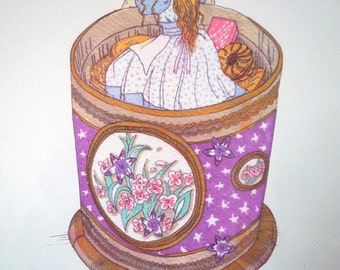 Frida in the Biscuit Tin - Limited Edition Digital Print
