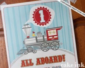Print-Your-Own Customised Locomotive Party Poster