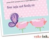 Customised Print-Your-Own Enchanted Garden invites