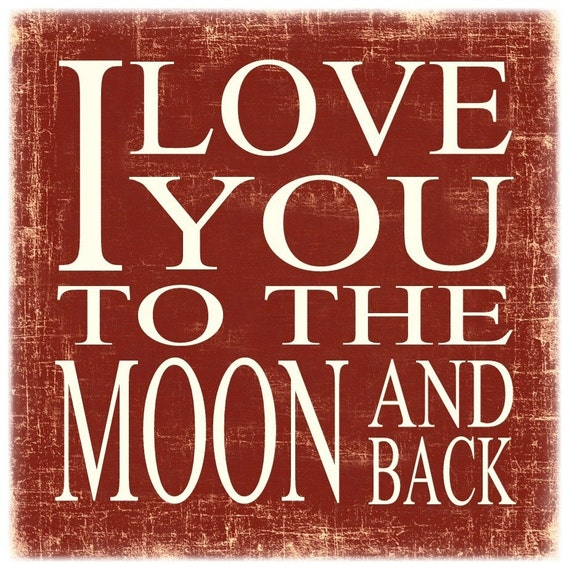 Items Similar To Picture Frame I Love You To The Moon And