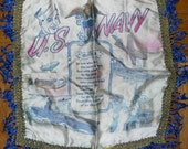 U.S. Navy Souvenir Pillowcase for Mother -- Great graphics and tassels to boot