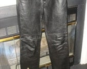 Black Leather Pants Buttery Soft Great Size at a Great Price -- Rock Star, Urban Chick Cool - Chic Rocker Classic Cool