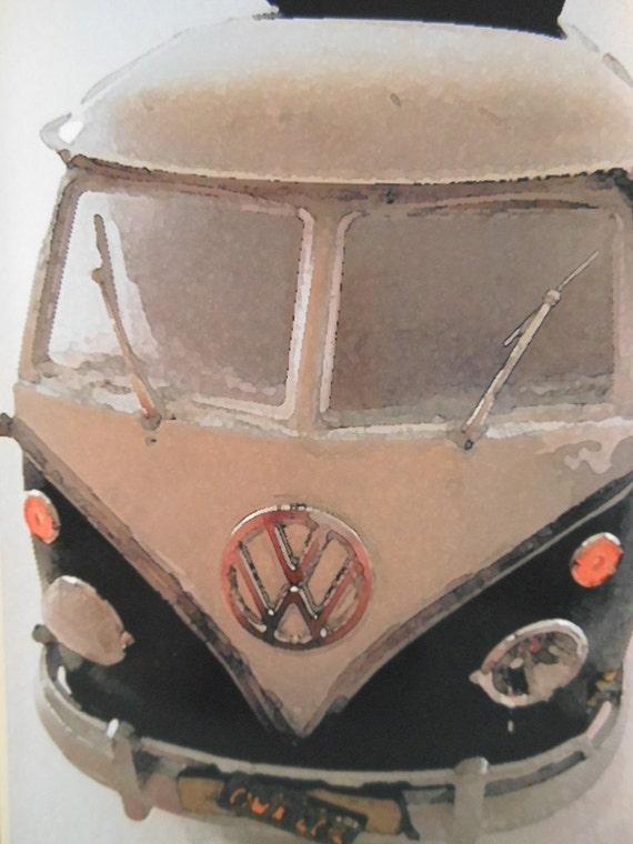 Junker Car Art Photography Hunter and School Bus Yellow VW Samba Hippie Bus