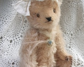 "Vintage Looking Mohair Artist Teddy Bear ""Forget me Not"". Ready to ship."