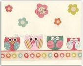 Bbay girl owl, Nursery wa...