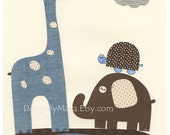 Baby boy Nursery print, B...