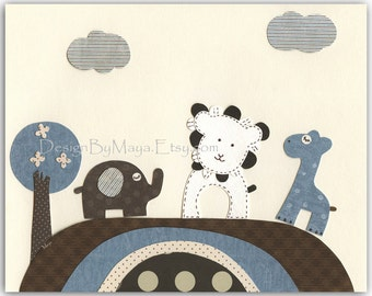 Children Wall Art, Kids Room Decor, Children Play Room, Baby Boy Nursery, Bradley Bedding, Lion Giraffe Elephant Nursery Wall Art Prints