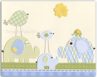 Kids Nursery Decor - Art Print For Kids Nursery Room Size 8x10