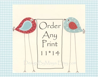 Kids room wall art, play room, Nursery Decor Art for Kids Room..order any print 11x14