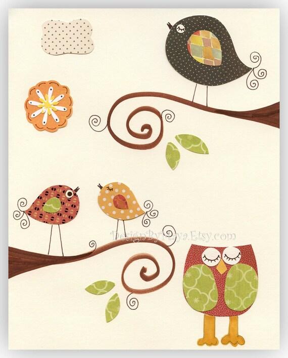 Items Similar To Kids Room Decor, Baby Room, Owl Nursery