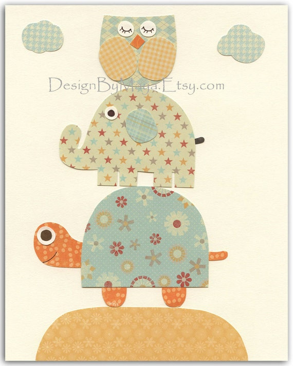 Vintage Baby Wall Decor : Items similar to children room baby decor nursery