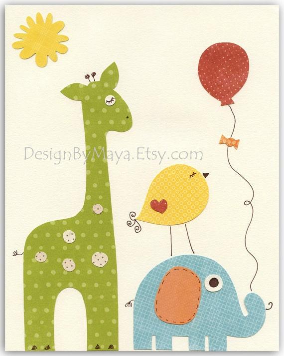 Children S Party Box Wall Art For Girl S Bedroom: Nursery Art Prints Baby Room Decor Nursery Art Decor Kids