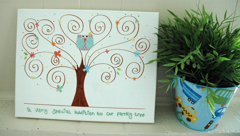 personalized baby shower thumbprint tree wedding by designbymaya