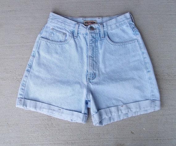 Vintage Denim Shorts High Waist  - US Size 1/2 - 25 -  Priority Shipping