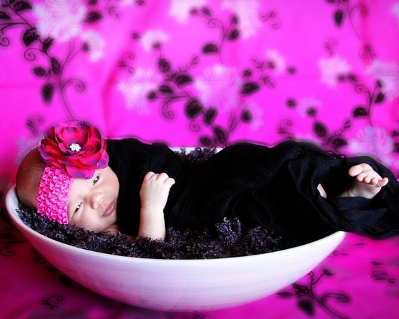 Hot Pink Floral Photography Backdrop 5x9