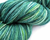 SALE - DK, merino superwash in Emerald City, a hand dyed, semi solid