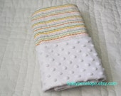 Baby Blanket - Raindrops On Posies  - Unisex - Netral Gender - Ready to Ship