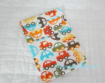 Clearance*** Diaper and Wipes Case Holder - Ready Set Go - Bermuda Cars- Ready to Ship