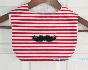 Boutique Style Baby Bib - Little Man - Mustache