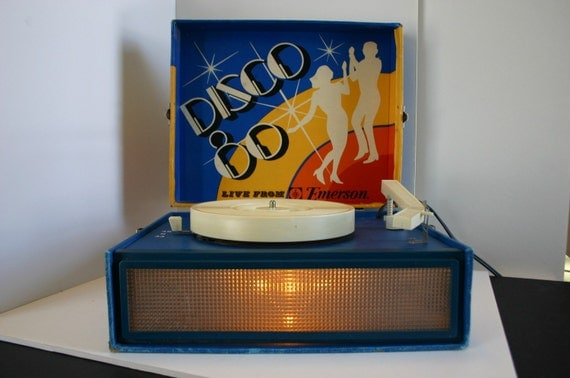 Vintage Disco 80s Record Player Live from Emerson