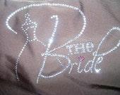 new SAMPLE SALE the Bride Wedding Dress Black Crystal Rhinestone Bling Tank Top Shirt  size SMALL 02