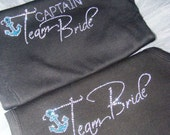 5 Nautical Bridesmaid Tank Tops.  Anchor. Beach wedding. Cruise Ship. destination wedding.Team Bride shirts. Bride's Crew Shirt. Bridesmaid