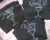 Dirty Martini Bachelorette Bride Bridesmaid Maid of Honor Personalized Gifts Crystal Bling Rhinestone Shirts mozTREND