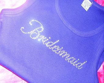 Purple Bridesmaid Tank Tops . Ribbed Bridesmaid tank tops - purple, aqua blue, royal blue, yellow, green, white, brown, light pink, hot