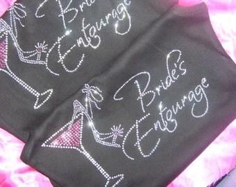 Bridesmaid shirts set of 6 . Bridesmaid purple martini and shoe t-shirts . Bridal party, weddings, bride, maid of honor , matron of honor
