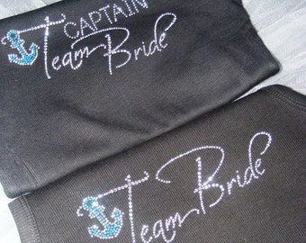 7 Bridesmaid Anchor Tank Top Package. Bride. Maid of honor. Team Bride. Cruise Ship Wedding Ideas. Nautical Wedding. Anchor Themed Wedding