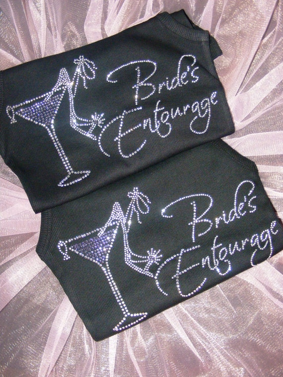 Bride's Entourage T-shirts . Bachelorette Party Shirts . Purple and black bachelorette . Wedding shirts . Bridesmaid shirts . Bachelorette .