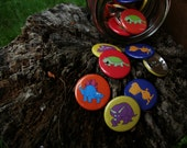 Colored Dinosaur Buttons- Saurs & More Series - The Complete, Primeval, Four-Button Set