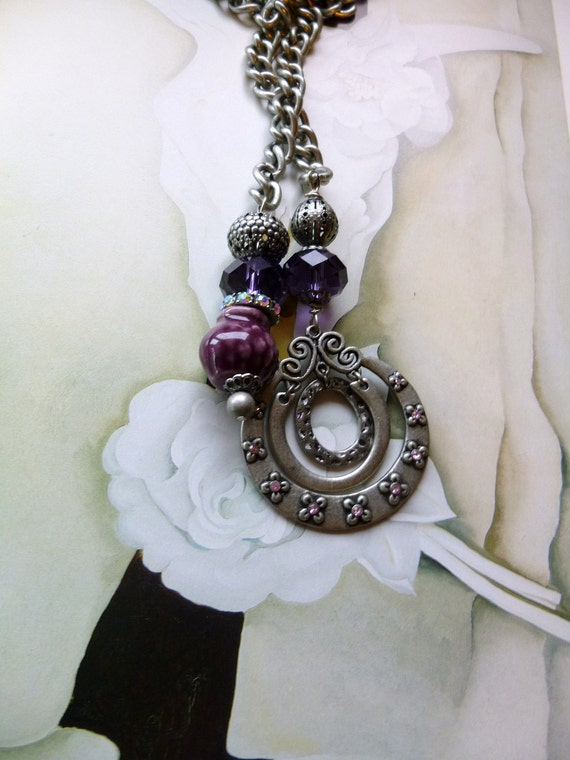 Angelica, Renaissance, Silver, Crystal, Ceiling Fan Pulls, The Baroque Collection