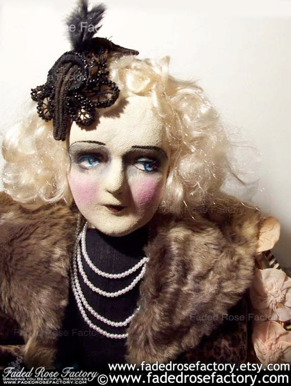 Bette Davis - OOAK Art Doll Boudoir Doll