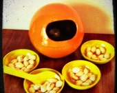 Vintage Sphere-Burnt Orange Party Nut Bowl