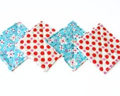 reversible fabric coasters - set of 4