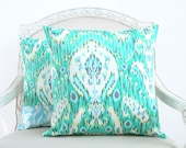"""reserved for Jennifer - Amy Butler - Lark in Emerald - decorative throw pillow cover - 18"""" x 18"""""""