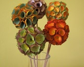 Eco-Friendly, Modern Tapioca Wood Blooms - Set of 3 - for wedding centerpieces or home decor, flower arrangements