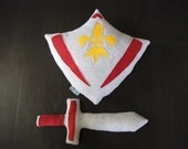 Plush Toy Shield and Sword Set - Personalized - Custom