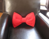 Bow Tie Pillow - Personalized - Custom - Geek Chic Home Decor
