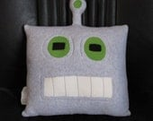 Robot Pillow - Good and Evil - Geek Chic Home Decor