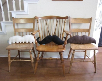 Moustache Pillows - Pick 3 and Save - Mustache Geek Chic Home Decor