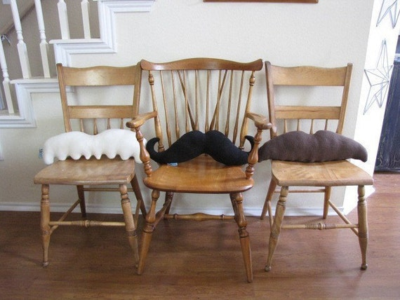 Moustache Pillows - Pick 2 and Save - Mustache Geek Chic Home Decor