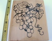 Grapevine Wood Mounted rubber stamp