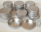 15ml small metal tins, small organizer, small storage box, blank round (set of 12) silver color