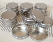 1 small metal tin, 15ml blank round silver color
