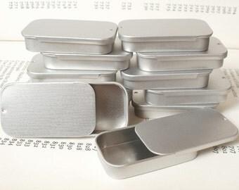mini sliding lid tins, 20ml jewelry box, candle tin, lip balm tin, blank silver color