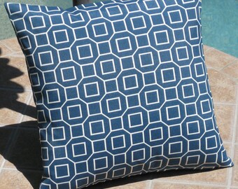 Outdoor Soho Pool Blue Throw Pillow Cover - 16 inch